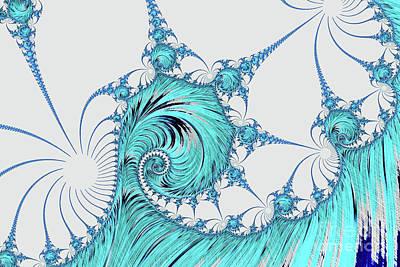 Digital Art - Blue Breaker by Steve Purnell