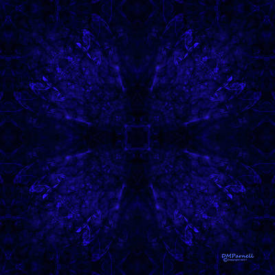 Sextet Digital Art - Blue Breakthrough Royal 3 by Diane Parnell