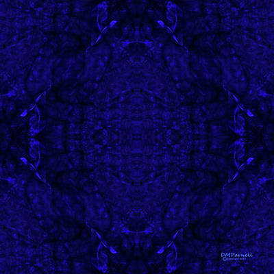 Sextet Digital Art - Blue Breakthrough Royal 5 by Diane Parnell
