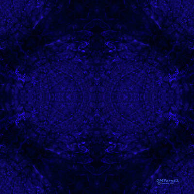 Sextet Digital Art - Blue Breakthrough Royal 6 by Diane Parnell
