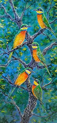 Painting - Blue Breasted Bee Eater by Gail Butler