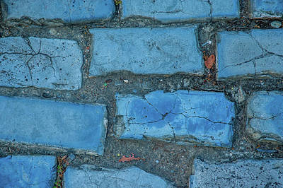 Photograph - Blue Bricks by Herb Paynter