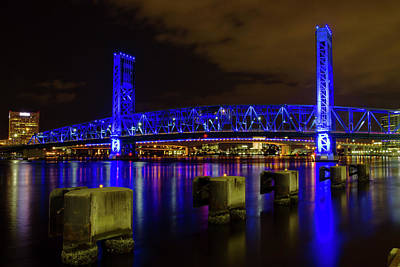 Photograph - Blue Bridge 1 by Arthur Dodd