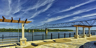 Blue Bridge And Smothers Park Art Print by Wendell Thompson