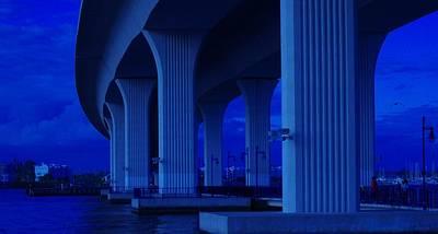 Blue Bridge Art Print by Don Youngclaus