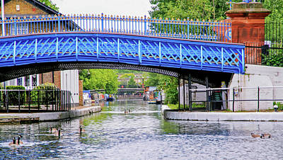 Photograph - Blue Bridge Over Regent's Canal by Keith Armstrong