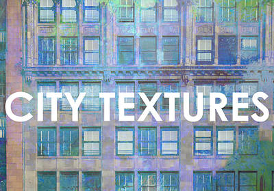 Mixed Media - Blue Broadway Urban Textures by John Fish