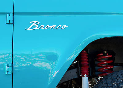 Photograph - Blue Bronco Jeep by Rospotte Photography
