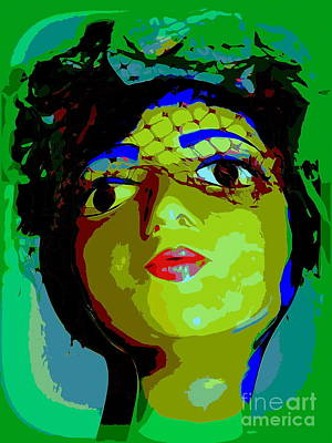 Digital Art - Blue Brow Betty by Ed Weidman
