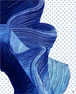 Digital Art - Blue Brush Stroke by Gary Grayson