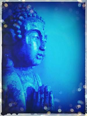 Photograph - Blue Buddha by Christine Paris