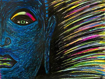Painting - Blue Buddha by Christine Regan Lake