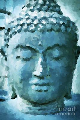 Blue Buddha Art Print by KaFra Art