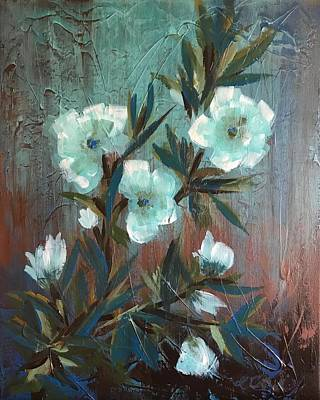 Painting - Blue Buds by Laura Cottrell