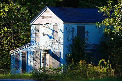 Photograph - Blue Building by Kathryn Meyer