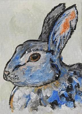 Painting - Blue Bunny by Ella Kaye Dickey