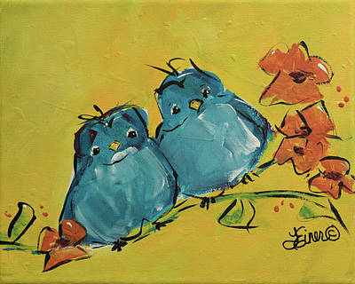 Painting - Blue Buntings by Terri Einer