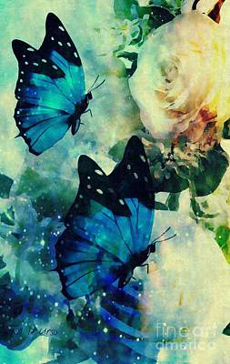 Digital Art - Blue Butterfies by Maria Urso