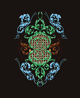 Pinstripes Painting - Blue Butterflies by Dewayne Connot