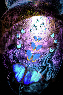 Digital Art - Blue Butterflies by Lisa Yount