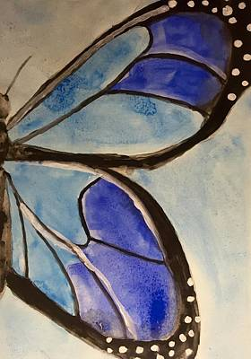 Delicate Details Painting - Blue Butterfly by Jennifer Whitworth