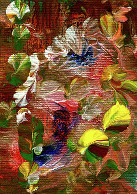 Painting - Blue Butterfly Jungle by Nan Bilden