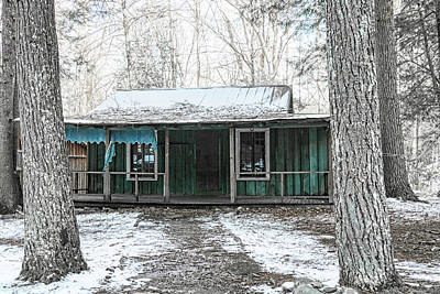Photograph - Blue Cabin Elkmont by Sharon Popek