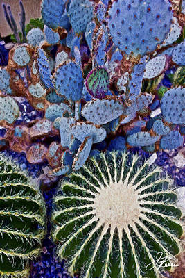 Painting - Blue Cactus by Joan Reese