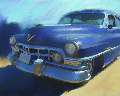 Digital Art - Blue Caddy by David King
