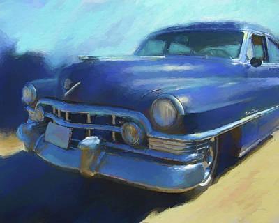 Blue Caddy Art Print