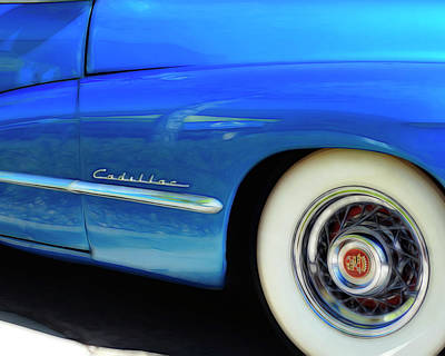 Photograph - Blue Cadillac - Classic Car by Ann Powell