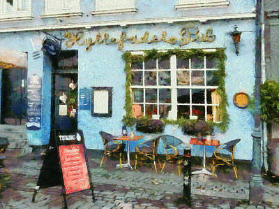 Photograph - Blue Cafe Copenhagen by Dorothy Berry-Lound