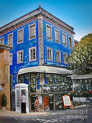 Photograph - Blue Cafe On The Corner by Sue Melvin