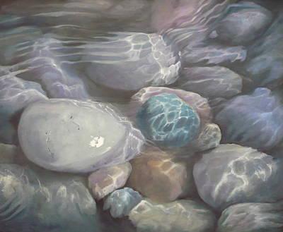 Blue Calm Art Print by Caroline Philp