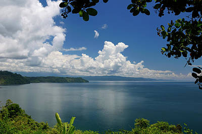 Costa Rica Photograph - Blue Calm Water Of Golfo Dulce At Osa Peninsula Costa Rica Under by Reimar Gaertner