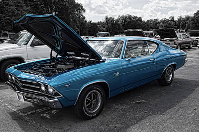 Photograph - Blue Chevelle Ss by Sharon Popek