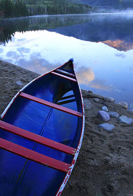 Photograph - Blue Canoe by Catherine Alfidi