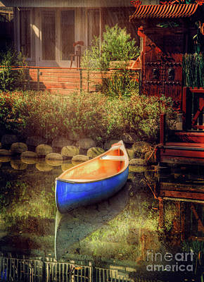 Photograph - Blue Canoe by Craig J Satterlee