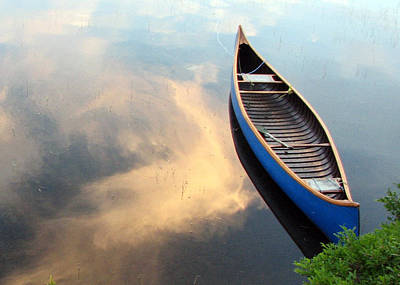 Photograph - Blue Canoe In The Clouds by Betsy Derrick