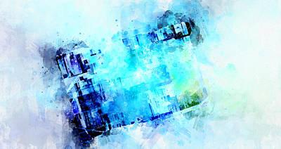 Digital Art - Blue Canvas by Art Di