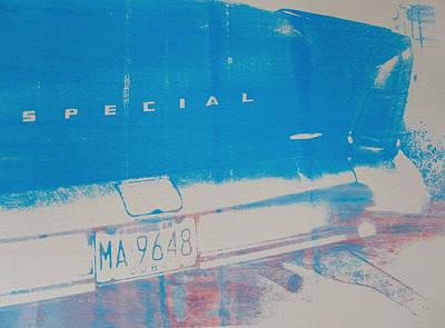 Screen-print Photograph - Blue Car by David Studwell