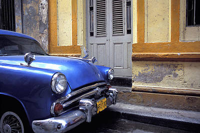 Photograph - Blue Car by Marcus Best
