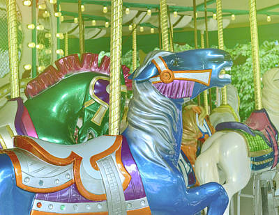 Photograph - Blue Carousel by JAMART Photography