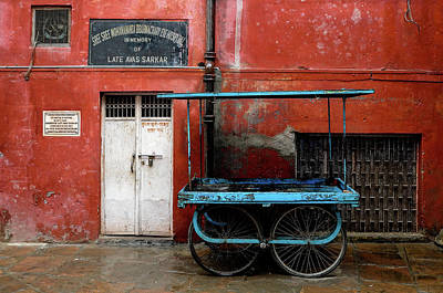 Photograph - Blue Cart by M G Whittingham