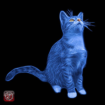 Painting - Blue Cat Art - 3771 Bb by James Ahn