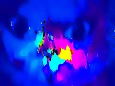 Etc. Mixed Media - Blue Cat by HollyWood Creation By linda zanini