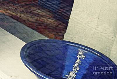 Photograph - Blue Ceramic Bowl In Eltville 1 by Sarah Loft