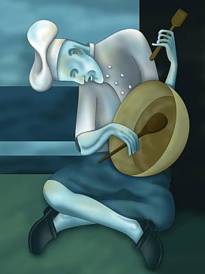 Blue Chef Art Print