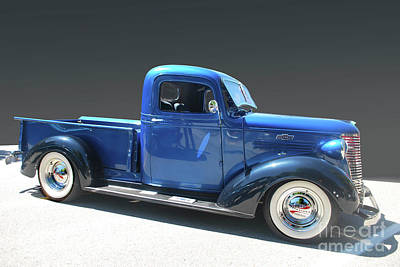 Photograph - Blue Chev Truck by Bill Thomson