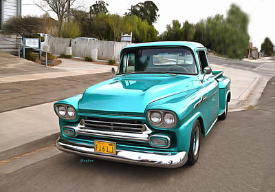 Photograph - Blue Chevrolet Vintage Pickup by Floyd Snyder